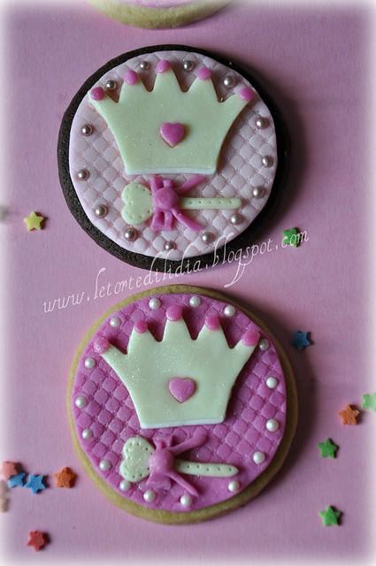 Biscotti decorati: Corona e scettro per la Princes