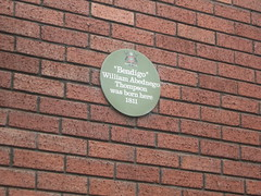Photo of William Abednego Thompson green plaque