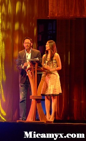 Awards Night hosts Paolo Bediones and Angel Aquino