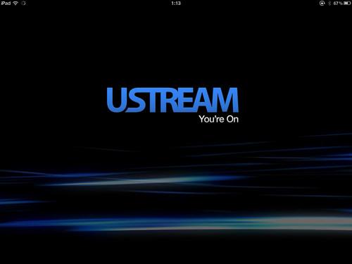 iPad版Ustreamアプリ