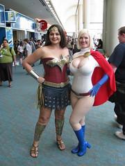 Wonder Woman & Power Girl (Vegas PG) Tags: woman girl wonder san power cosplay diego comiccon sdcc powergirl 2011 vegaspgcosplay