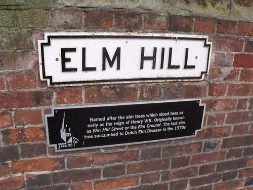 Elm Hill, Norwich - road sign
