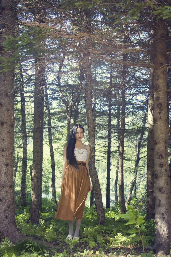 Running thru woods naked
