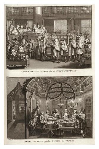 003-Procesion  judia de las Palmas-Comida durante las fiestas de las tiendas-Ceremonias et coutumes religieuses de tous les peuples du monde 1741- Bernard Picart-© Universitä