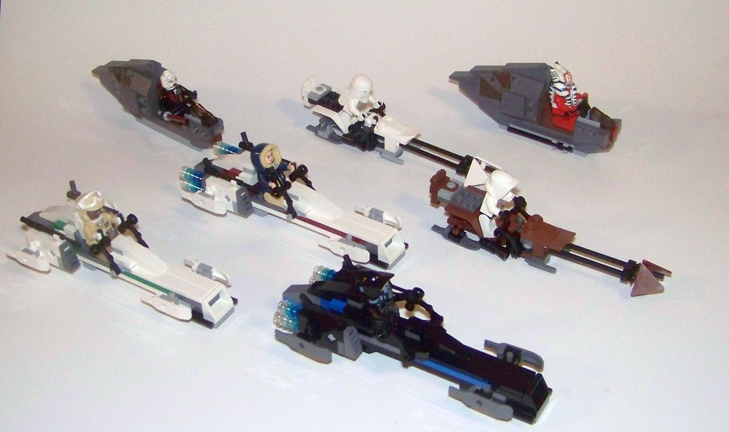 LEGO - MOC- Speeding x7