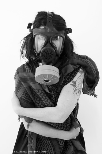 Gasmask Woman Photoshoot