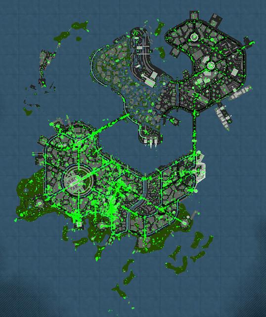 inFAMOUS 2 UGC heatmap