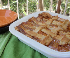 Peach Cobbler (texascooking) Tags: dessert peachcobbler whitefiestaware
