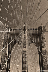 Puente de Brooklyn (NYC) (luisete) Tags: nyc newyork sepia brooklyn puente us brooklynbridge estadosunidos nuevayork oldeffect