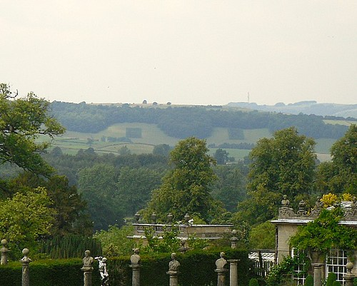 Background hills from garden, Chatsworth House