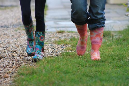 Laarzen in de regen