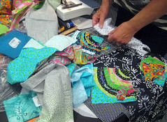 student work ~ fabric in progress
