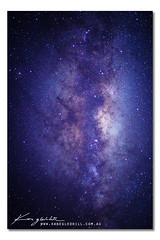 The Milky Way ([ Kane ]) Tags: blue sky black stars star nightscape purple qld queensland nightsky kane milkyway gledhill kanegledhill