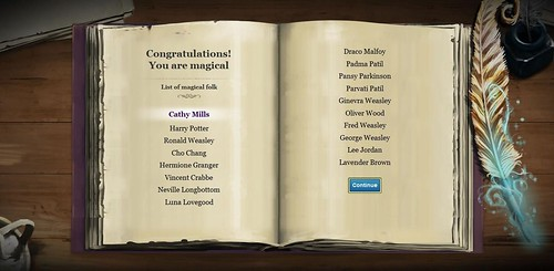 Pottermore Magical Folk