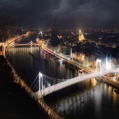 have you ever seen these lights? (ildikoneer) Tags: city bridge house color reflection night canon river square photography eos lights photo hungary ship cityscape view shot capital budapest sigma bank panoramic sharp chain mm 1020 buda pest lnchd bazilika erzsbet 40d touraroundtheworld