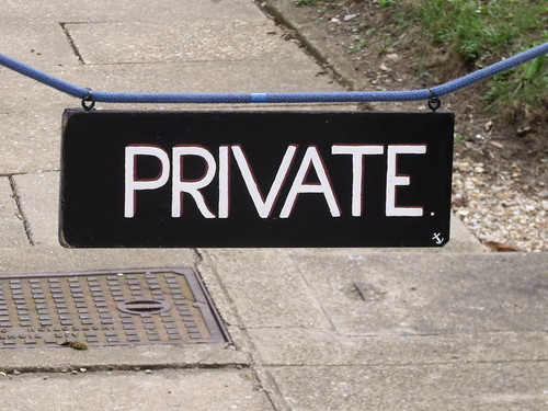 Holkham Hall - sign - Private