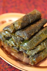Dolma (Adventuress Heart) Tags: rice mint appetizer grapeleaves oliveoil middleeastern dolma dolmas stuffedgrapeleaves picnicfood  serma   stuffedleaves