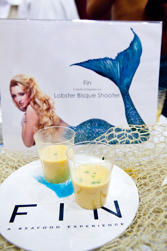 Lobster Bisque Shooters from Fin at Tropicana