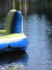 Dream On (mercyming) Tags: blue summer lake yellow nikon ripple peaceful coolpix floatie airmattress p80