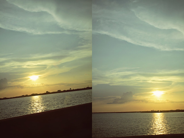 Pensacola sunset diptych