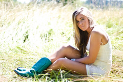 Hayley (wakeupbaylee) Tags: pictures blue portrait green senior girl field grass necklace model eyes nikon pretty boots teal longhair blonde d200 brunette hayley dreamcatcher cowboyboots wheatfield whitedress wakeupbaylee baileydennisphotography