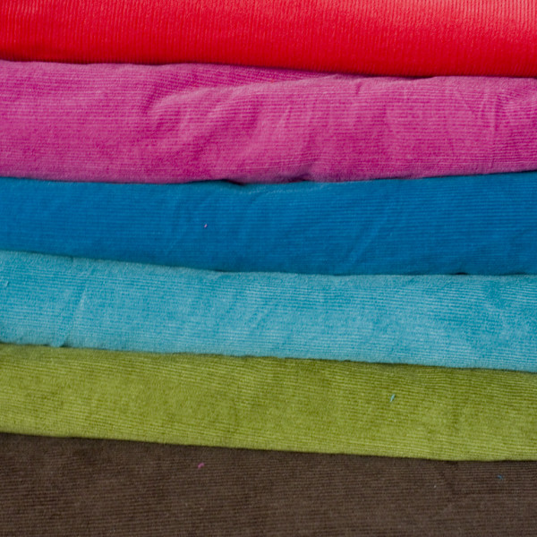 Corduroy fabrics 6 colours