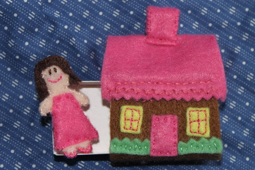 Matchbox house and doll