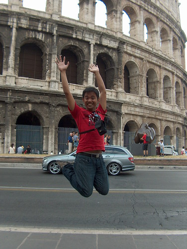 Rome, Italy - Jumping shot