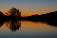 remains of the day (Seakayem) Tags: longexposure sunset reflection silhouette landscape sony canberra hdr slt lakeburleygriffin a55 westbasin lotusbay