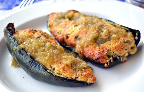 Cornbread-Stuffed Poblano Peppers