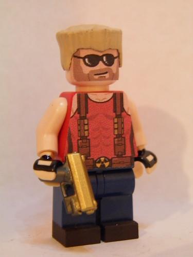 Custom minifig Duke Nukem