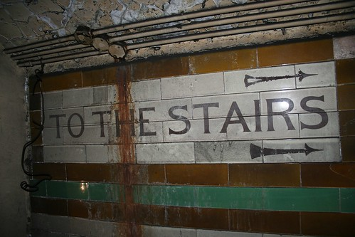To the stairs!