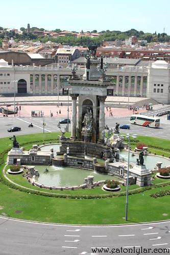 Plaza Espanya from Arenas de Barcelona, Barcelona