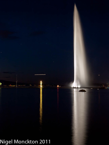 Nightfall in Geneva