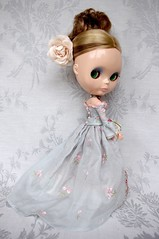 For Sarah (Kikihalb  Forest~Tales ) Tags: marie set century disco beads doll dress handmade lace embroidery silk chiffon style 18th clothes boogie apricot antoinette ribbon blythe pompadour gown printed mousseline dupioni