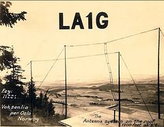 G5RV LA1G 1935 Vintage Qsl Card (pwllgwyngyll) Tags: china old radio vintage hand ham card cw qsl drawn amateur morsecode shortwave hamradio amateurradio a1a shortwaveradio swl radioamateur g5rv radiocommunication la1g xu6hp vintageqslcard