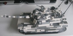 Lego Arctic Camouflage Abrams Main Battle Tank (Lonnie.96) Tags: white cool tank m1 wip camo arctic american abrams camoflage armour treads