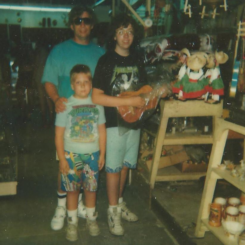 Dad, Steven and Kevin in Ciudad Juarez