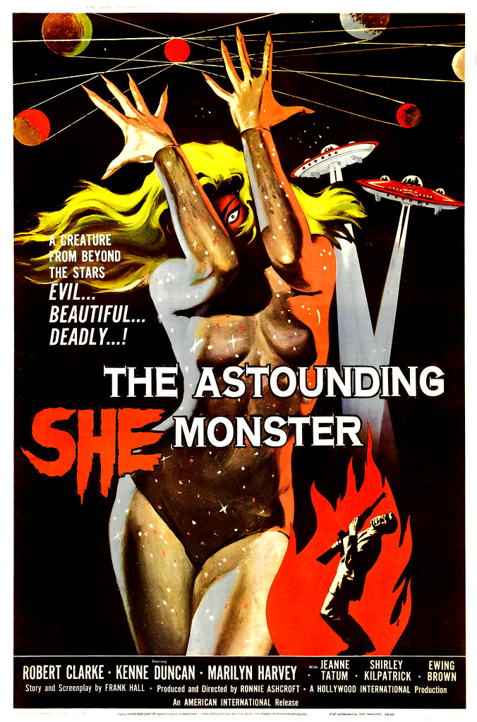 Albert Kallis - The Astounding She Monster (American International, 1958) One Sheet