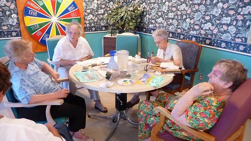 Nursing home art class