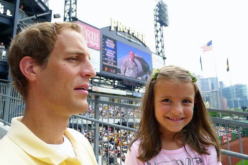 Pirate Game 2011:  Daddy and Lauren.