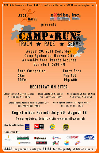 CAMP RUN Event Poster