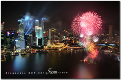 Singapore National Day Parade 2011 - Happy Birthday Singapore 6 (fiftymm99) Tags: show park bridge reflection building skyline river one hotel boat singapore day fireworks rehearsal parade celebration national land ndp cbd fullerton merlion performances ntuc chartered uob maybank 2011 captial stnadard gettyimagessingaporeq2 singaporenationaldayparade2011 sinagporendp2011