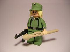 "Waffen SS ""Berlin defender"" LEGO (MR. Jens) Tags: world two berlin field war wiking lego wwii ss cap ww2 100 division 5th 44 panzer defender panzerfaust waffen sturmgewehr m34 brickarms stg44"