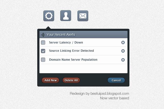 Modern Tooltips Web UI Element PSD