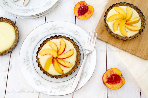 Peach Pastry Cream Tarts