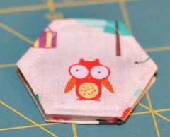 hexie needle book - owl