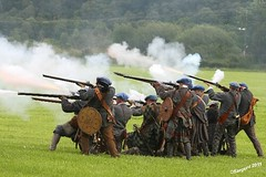 Return Fire (day_sargent) Tags: history scotland battle battlefield reenactment selkirk livinghistory warfare scottishborders sealedknot philiphaugh