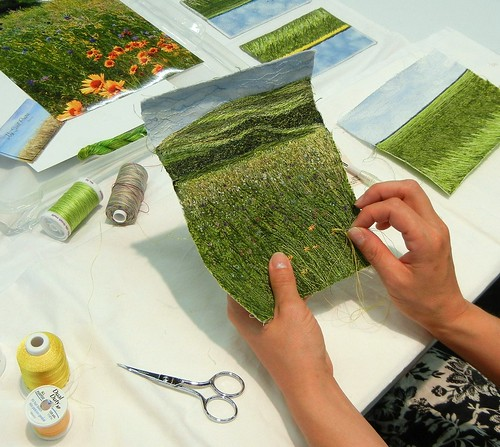 me, sewing. by My Sweet Prairie