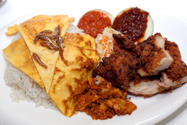 Nasi Lemak Crispy Chicken